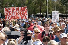 No Carbon Tax Rally Stock Image