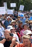 No Carbon Tax Rally Stock Photo