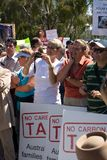 No Carbon Tax Rally Stock Images