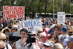 No Carbon Tax Rally Royalty Free Stock Images