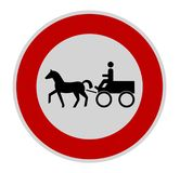 No carriage sign Stock Photos