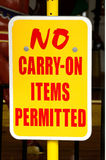 No Carry On Stock Photos