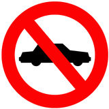 No Cars Allowed Royalty Free Stock Photo