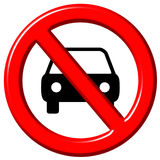 No cars allowed 3d sign Stock Images