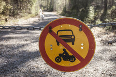 No cars allowed Royalty Free Stock Photos
