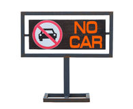 No cars allowed sign, Not parking in area Stock Photography