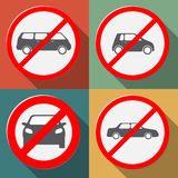 No cars allowed Stock Images