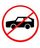 No Cars sign Royalty Free Stock Photo
