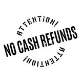 No Cash Refunds rubber stamp Stock Photography