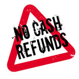 No Cash Refunds rubber stamp Stock Image