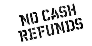 No Cash Refunds rubber stamp Royalty Free Stock Photo