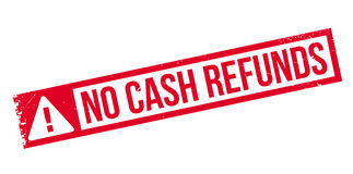 No Cash Refunds rubber stamp Stock Images