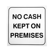 No cash sign Royalty Free Stock Images