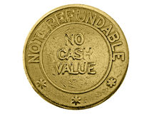 No cash value. A non-refundable gaming token Stock Photo