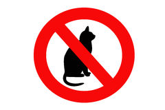 No cat sign Royalty Free Stock Photography