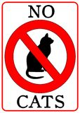 No Cats Sign. Isolated in white Royalty Free Stock Photos