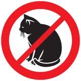 No cats symbol Royalty Free Stock Photos