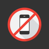 No cell phone icon. Vector illustration Royalty Free Stock Image