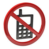 No cell phone sign Royalty Free Stock Photography