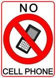 No cell phone sign. Illustration Stock Photos