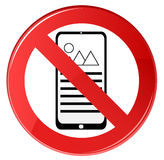 No Cell Phone Sign Royalty Free Stock Photo