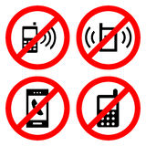 No Cell Phone Sign icon great for any use. Vector EPS10. Royalty Free Stock Photos