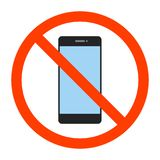 No cell phone sign vector illustration