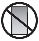 No cell phone use. In this place Stock Photo