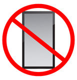 No cell phone use Royalty Free Stock Photography