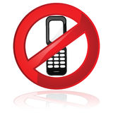 No cell phones allowed Stock Image