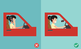 No cell phones - while driving Royalty Free Stock Photo