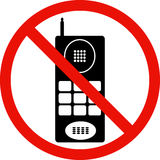 No Cell Phones sign Royalty Free Stock Photos