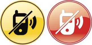 No Cellphones Phone Label Sign Symbol Stock Photos