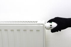 No central heating in cold house Stock Photography