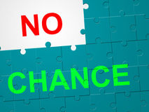 No Chance Means Not At All And Decline Royalty Free Stock Image