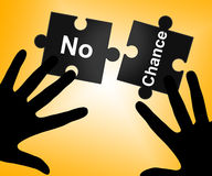No Chance Represents Not At All And Decline Royalty Free Stock Images