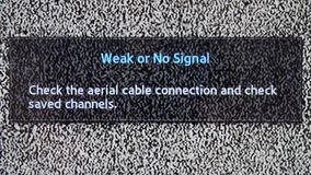 No channel white noise signal close-up . White noise signal on TV. No channel white noise signal close-up stock video footage