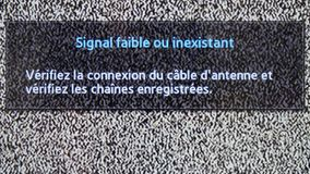 No channel white noise signal close-up . White noise signal on TV. No channel white noise signal close-up . French stock video footage