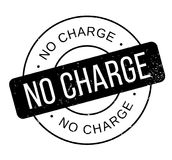 No Charge rubber stamp. Grunge design with dust scratches. Effects can be easily removed for a clean, crisp look. Color is easily changed stock illustration