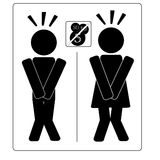 No Charge Toilet. Alternative sign for public, office or other toilets Royalty Free Stock Photos