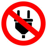 No charging vector sign Stock Photo