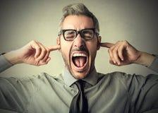 No chcę ucho mnie! zdjęcie stock