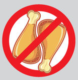 No chicken drumsticks. Royalty Free Stock Photography