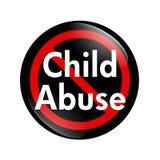 No Child Abuse button vector illustration