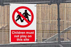 No Children sign Stock Image