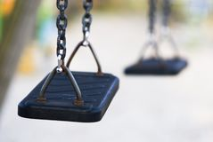 No children swings Royalty Free Stock Photo