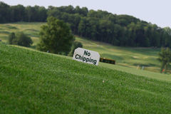 No Chipping. Sign on golf course Stock Images