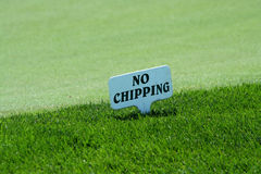 No Chipping Sign On A Practice Green Stock Photos
