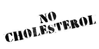 No Cholesterol rubber stamp Royalty Free Stock Image