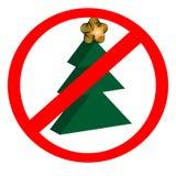 NO Christmas!. NO Christmas sign for Christmas haters Stock Photos